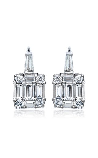 Clarity Diamond 18K White Gold Earrings
