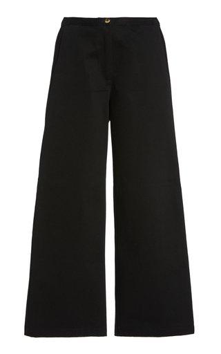 Orlando Cotton Wide-Leg Pants
