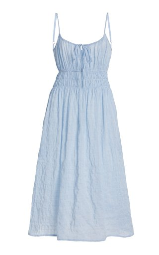 Gabriela Smocked Cotton-Blend Dress