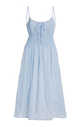 Gabriela Smocked Cotton-Blend Dress