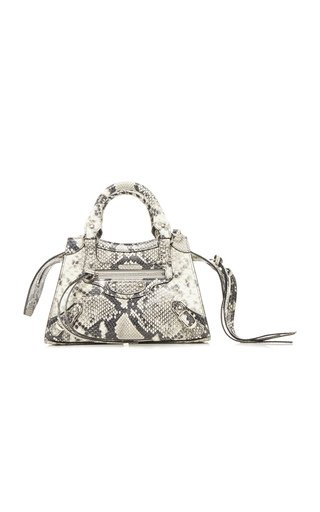 Neo Classic Mini Snake-Effect Leather Bag