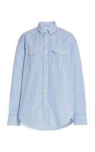 Oversized Striped Cotton Shirt