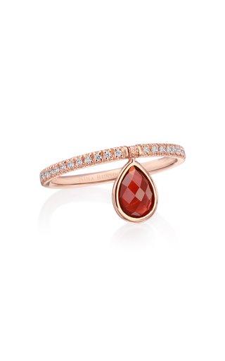 Mini 18k Rose-Gold Garnet and Diamond Flip Ring