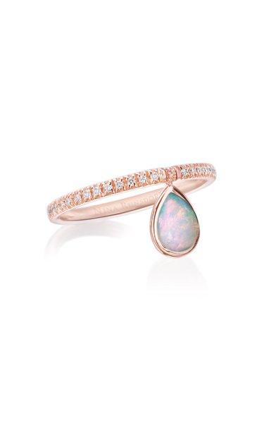 Mini 18k Rose-Gold, Opal and Diamond Flip Ring