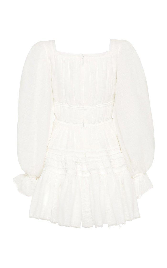 Impression Smocked Poplin Mini Dress