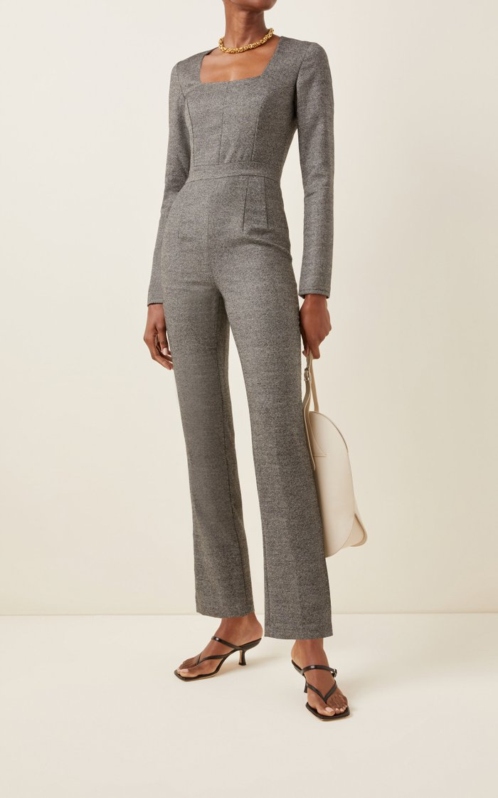 Daisy Melange Wool Jumpsuit
