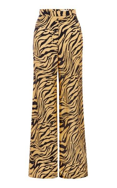 Antonia Tiger-Print Pants