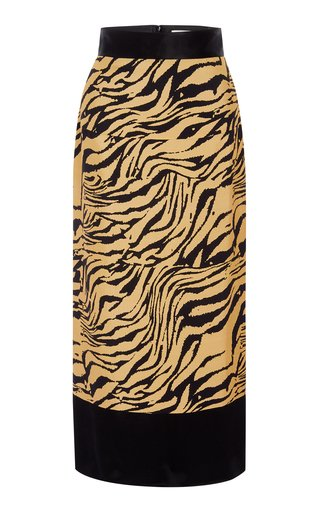Chloe Tiger-Print Skirt
