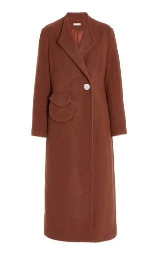 Natasha Asymmetric Wool Coat