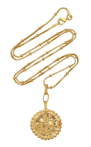 Elephant Gallant Amulet 24K Gold-Plated Necklace