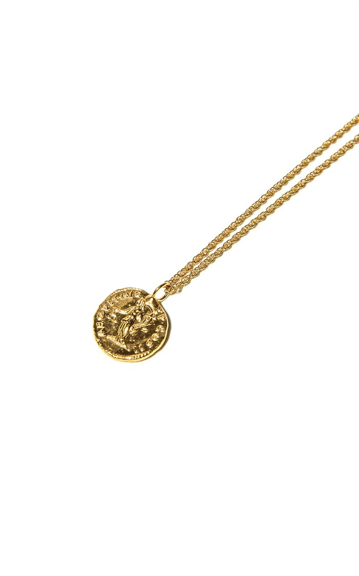 Veritas Aequitas 24K Gold-Plated Necklace