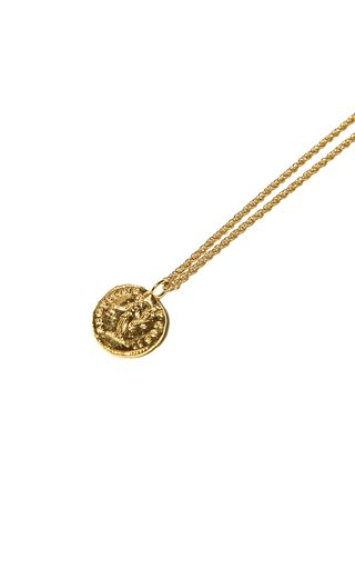 Veritas Aequitas 24K Gold-Plated Necklace