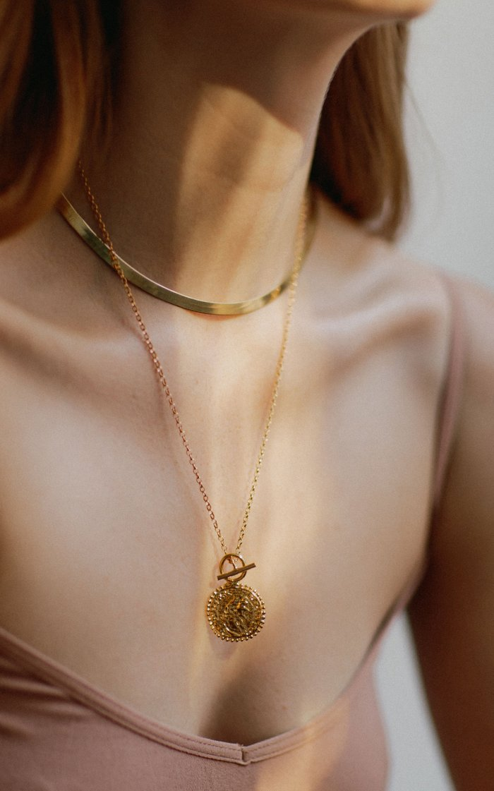Constantine's Medallion 24K Gold-Plated Necklace