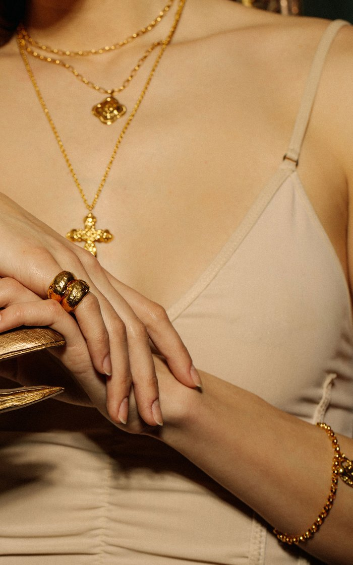 The Hidden Grotto 24K Gold-Plated Ring