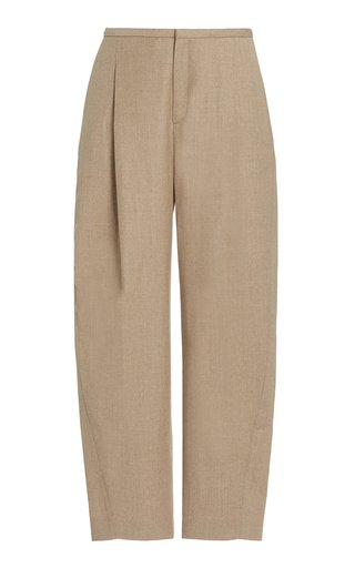 High-Rise Stretch-Wool Straight-Leg Pants