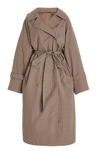 Techno Cotton Trench Coat