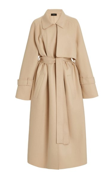 Cottrell Double-Faced Wool-Blend Trench Coat