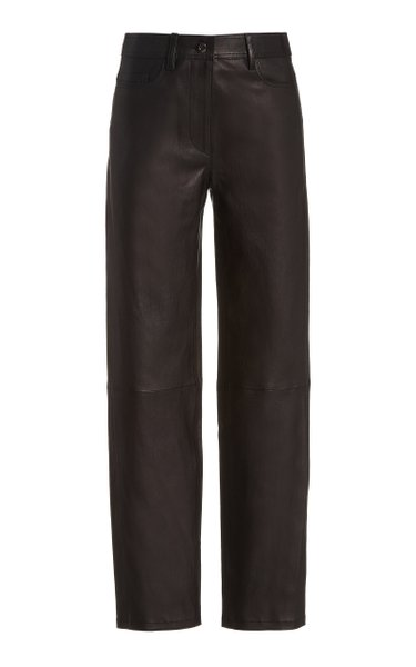 Teddy Stretch-Leather Pants