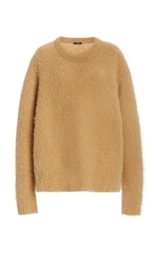Oversized Brushed Alpaca-Blend Sweater