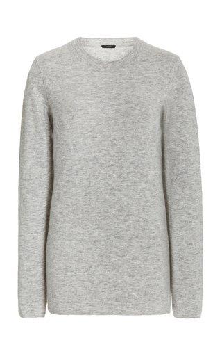 Wool-Cashmere Crew-Neck Sweater