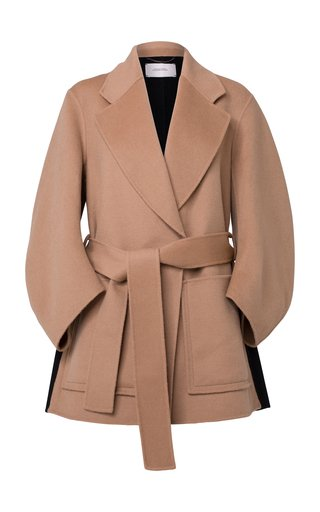 Exciting Volumes Belted Wool-Blend Jacket