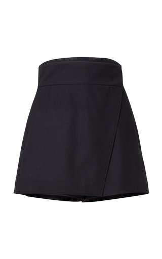 The New Ambition Wool-Blend Skort