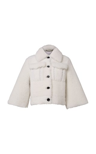 Charming Softness Shearling Cropped Jacket