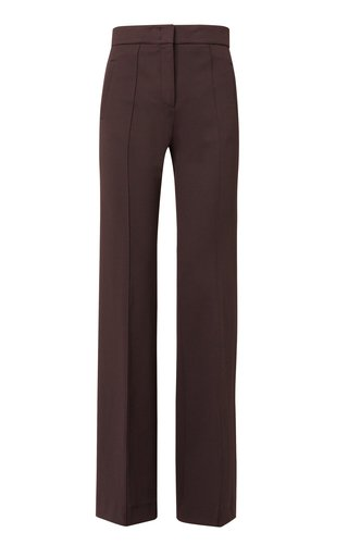 Structured Allure Slim Crepe Trousers