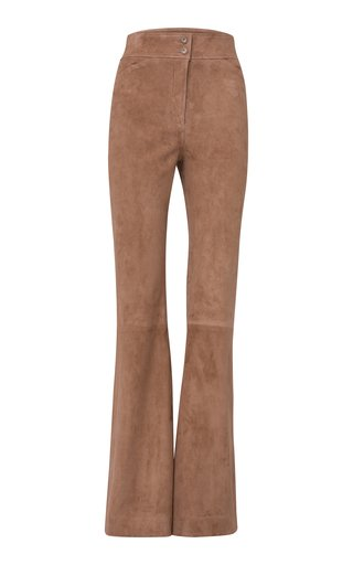 Velour Softness Suede Flared Trousers