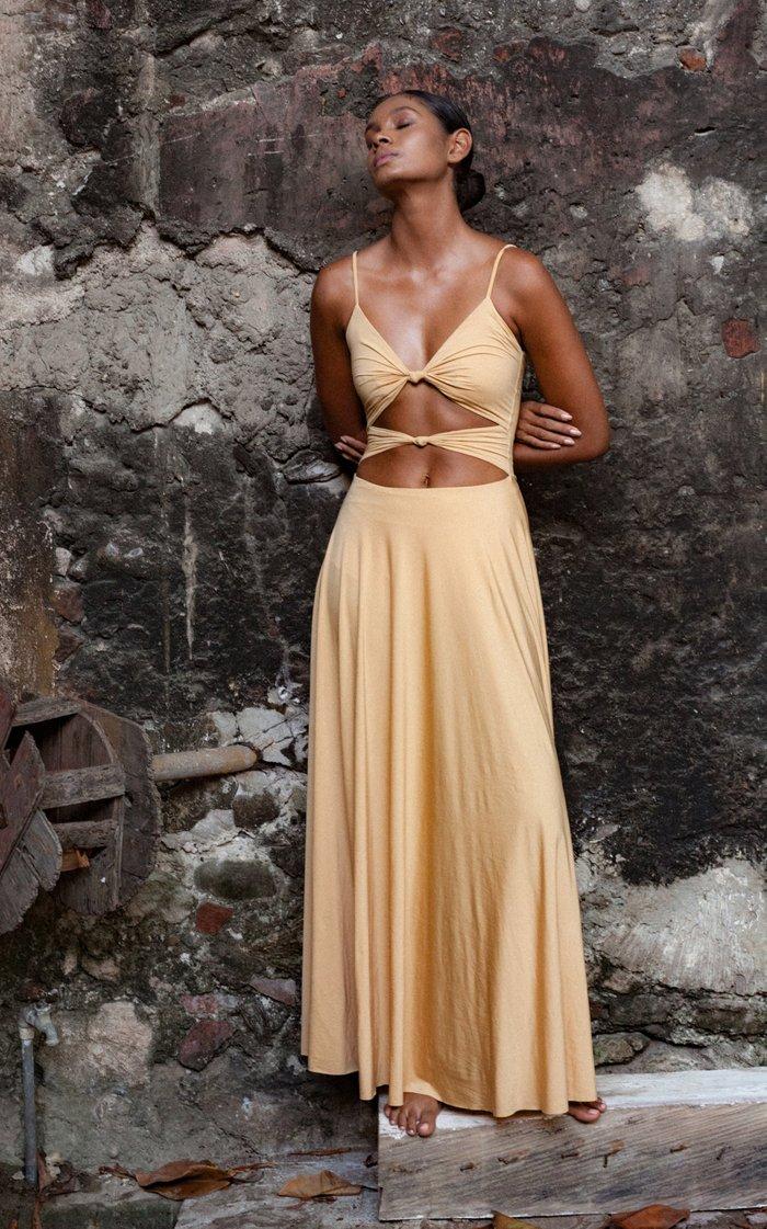 Mar Cutout Jersey Maxi Dress