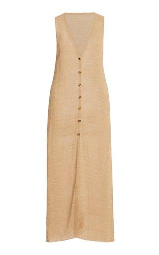 Holly Linen-Blend Long Knit Top