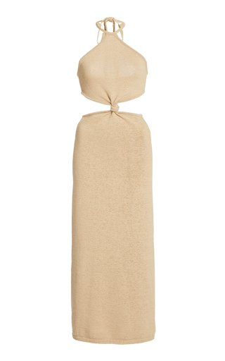 Cameron Cutout Cotton-Blend Knit Midi Dress