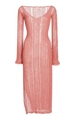 Antonella Ribbed-Knit Midi Dress