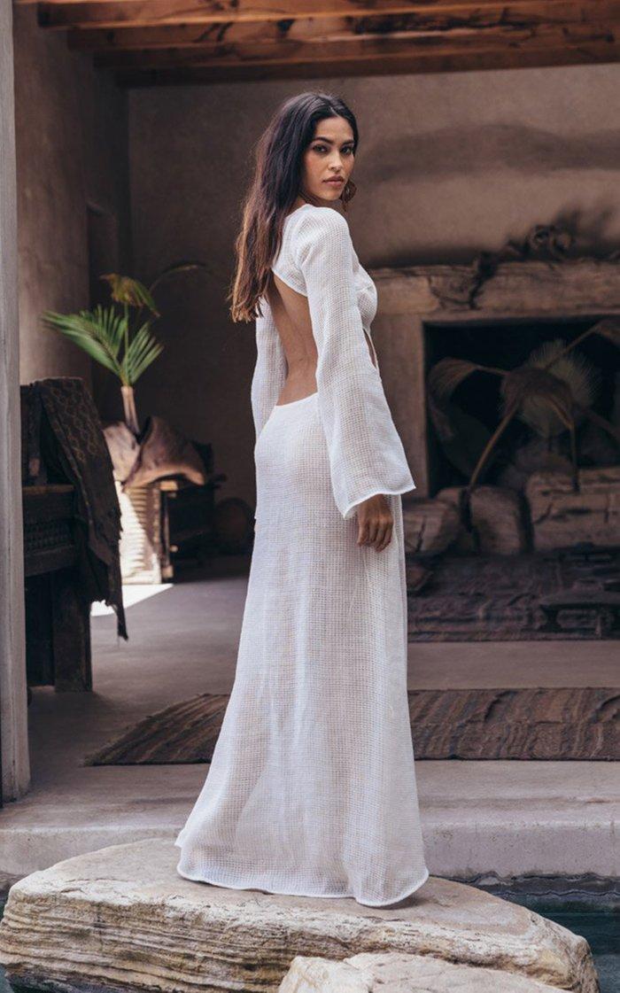 Kamira Cotton-Mesh Cover-Up Dress