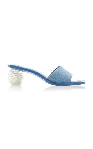 Tao Pearl and Denim Sandals