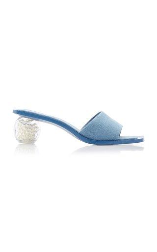 Tao Pearl and Denim Sandals