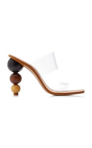 Vita PVC and Wood Sandals
