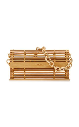 Sylva Caged Bamboo Shoulder Bag