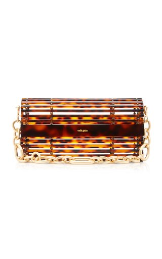 Sylva Caged Tortoiseshell Shoulder Bag