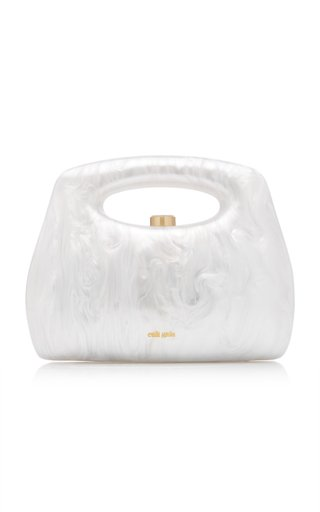 Mimi Marbled Acrylic Top Handle Bag