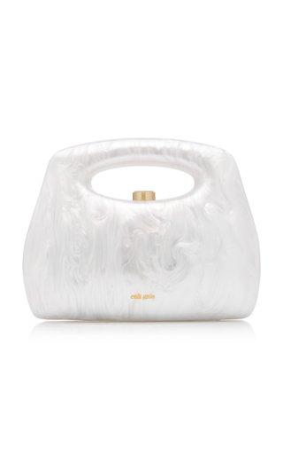 Mimi Marbled Acrylic Top Handle Bag
