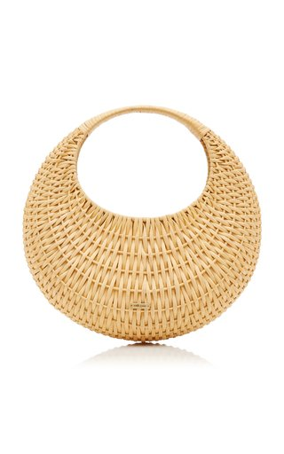 Taja Woven Rattan Top Handle Bag