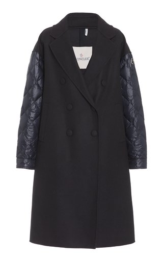 Kurhah Quilt-Detailed Wool-Cashmere Double-Breasted Coat