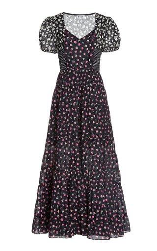 Tamara Mixed-Print Cotton Midi Dress