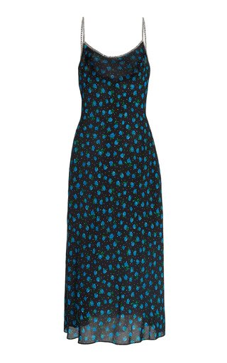 Holly Printed Silk Midi Slip Dress