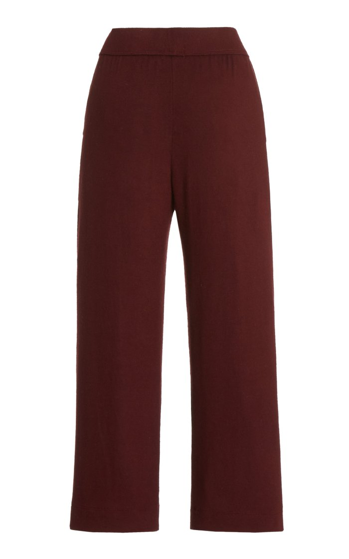 Lori Jersey Straight-Leg Cropped Pants