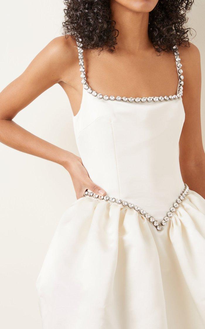 Embellished Satin Cupcake Dress