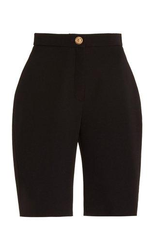 High-Rise Wool Biker Shorts
