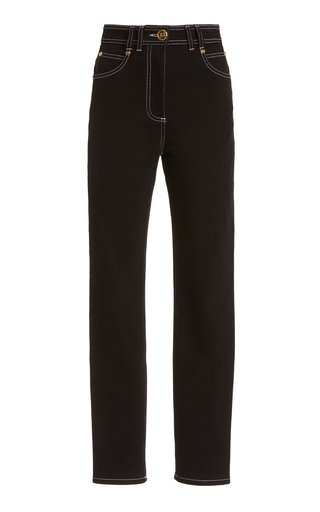 Top-Stitched Stretch High-Rise Skinny Jeans