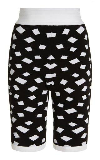 Jacquard-Knit High-Rise Bike Shorts